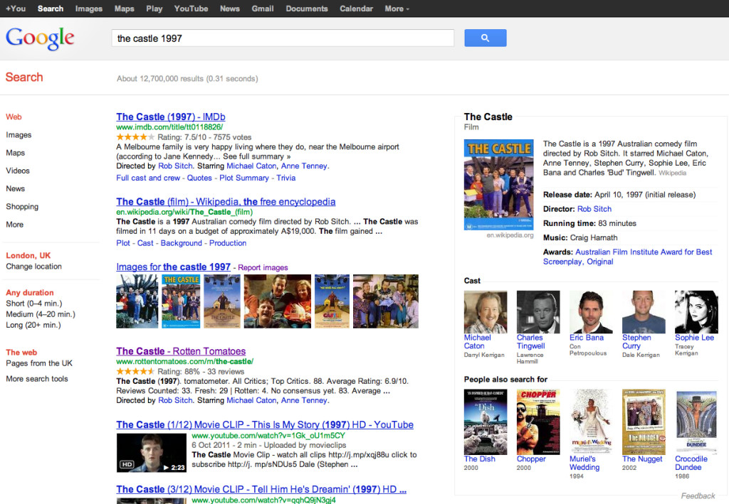 Google Knowledge Graph Examples