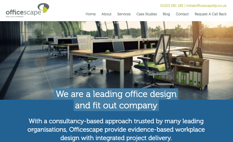 Officescape Website Case Study SocialB