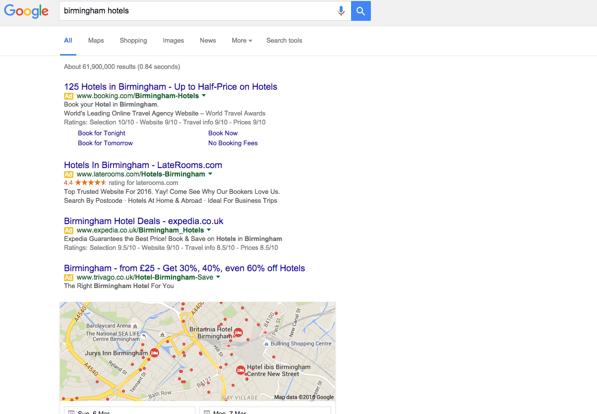 birmingham hotels Google Search