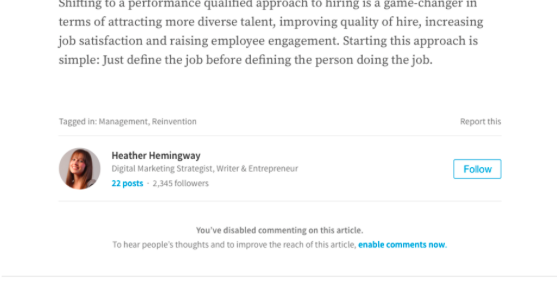 LinkedIn Comments