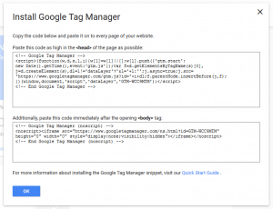 Tag Manager Installation 3