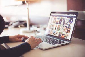 computer images social media