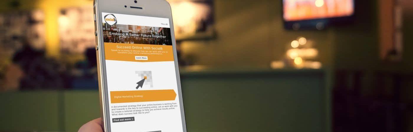 iphone hand socialb website