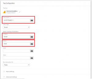 google tag manager tag configuration