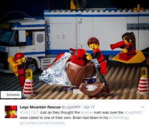 lego tweet easter