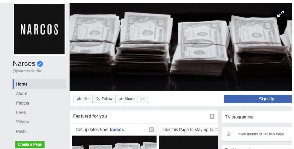 video cover image narcos facebook