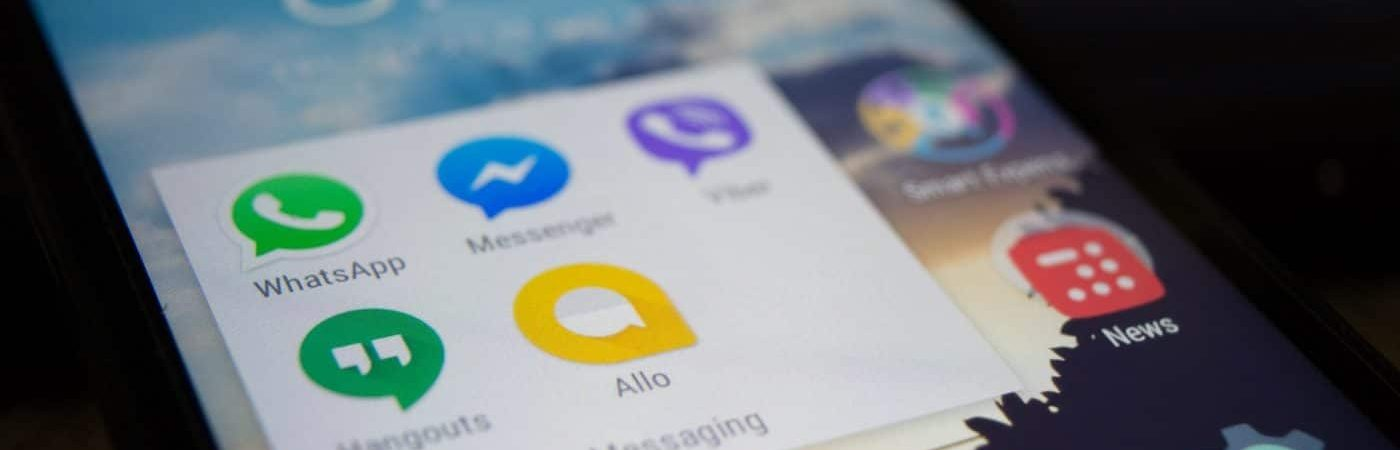 messaging apps on a mobile device