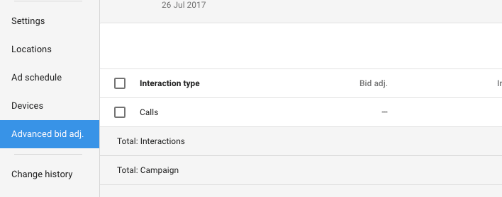 Adwords Call Interactions