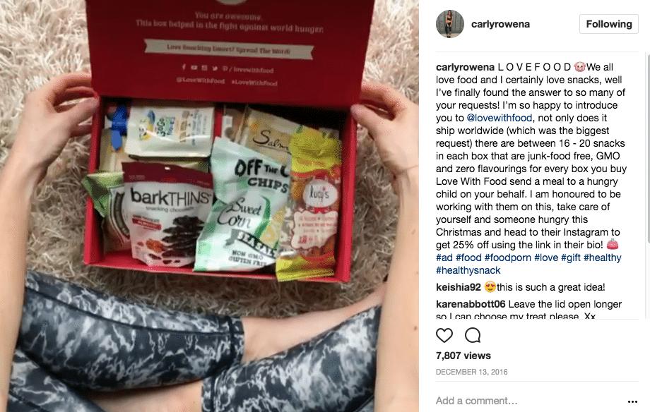 Influencer Marketing Ads Carly Rowena