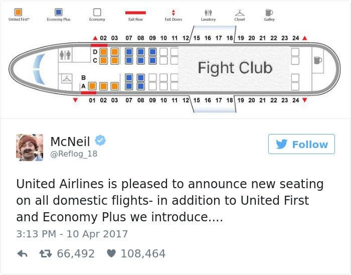 Humorous Tweet about United Airlines