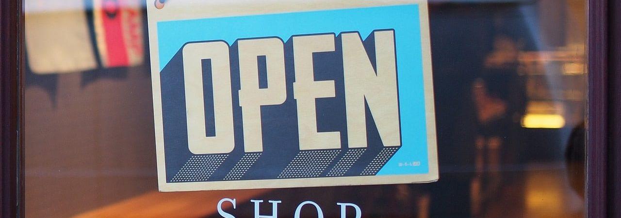 Shop sign open
