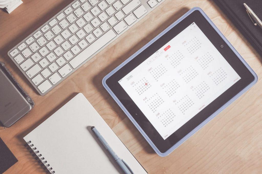content calendar