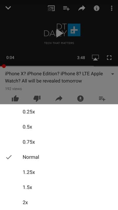 youtube variable speed