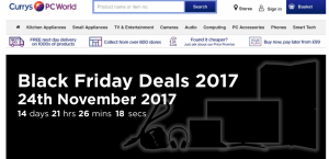 Currys PC World website black friday deals 2017 banner