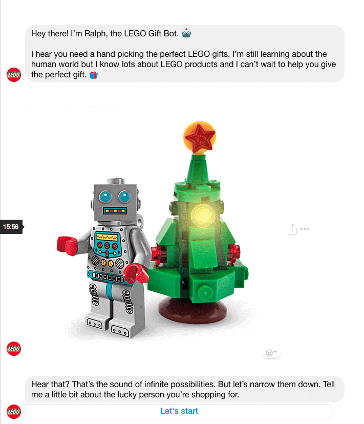 lego chat bot facebook messenger