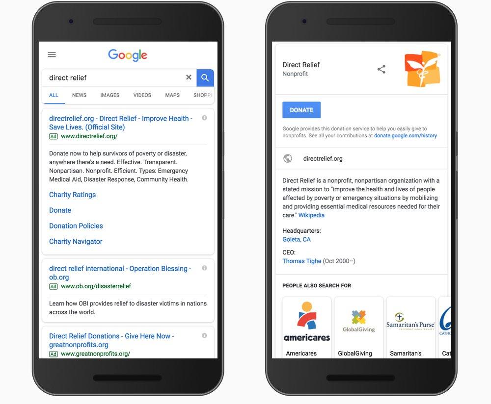 Google Donate Button