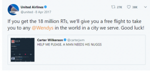 Going Viral Nuggs United Airlines