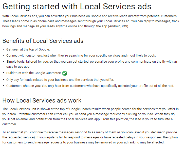 Getting started with Local Services ads