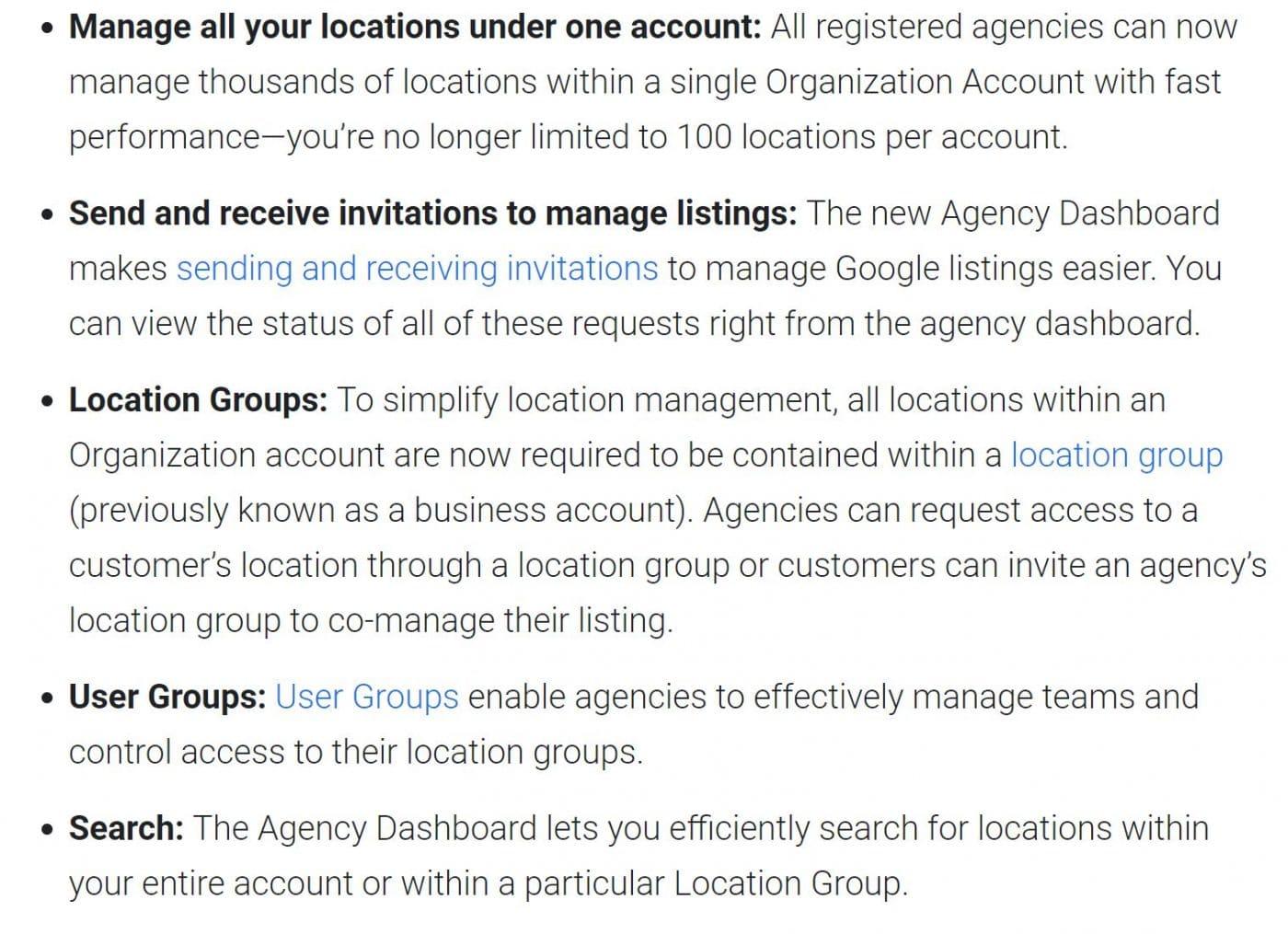 Agency Dashboard GMB