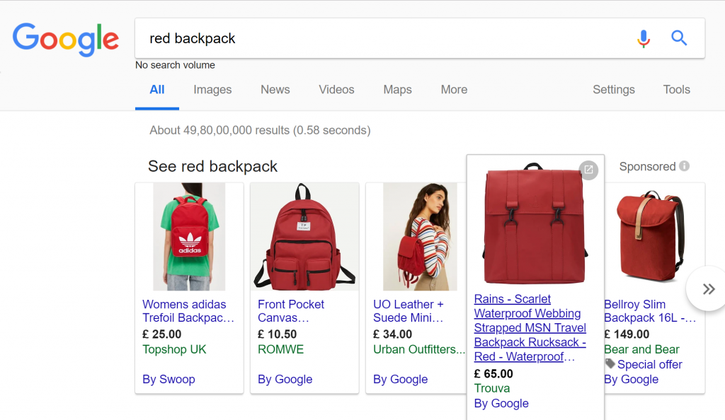 Google Shopping Feed Data