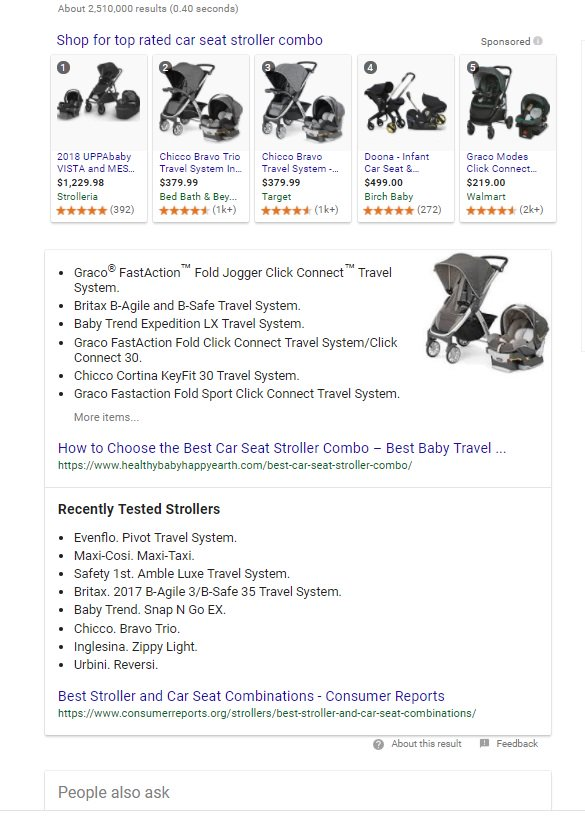 Google Tests Multifaceted snippets