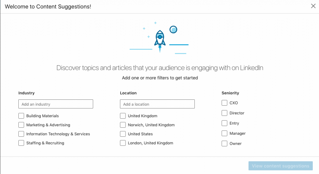 Linkedin Content Suggestion Tool