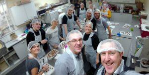 SocialB Team making chocolates