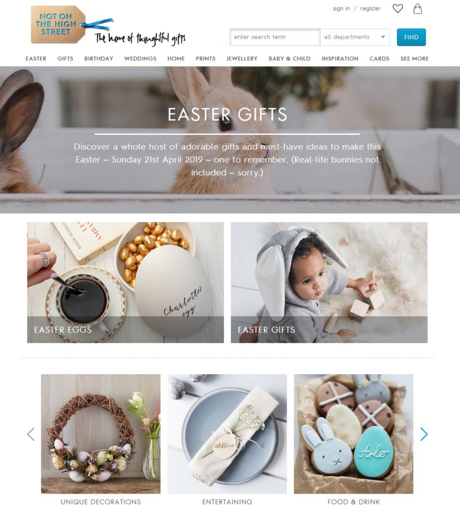 Easter Gifts 2019 notonthehighstreet com