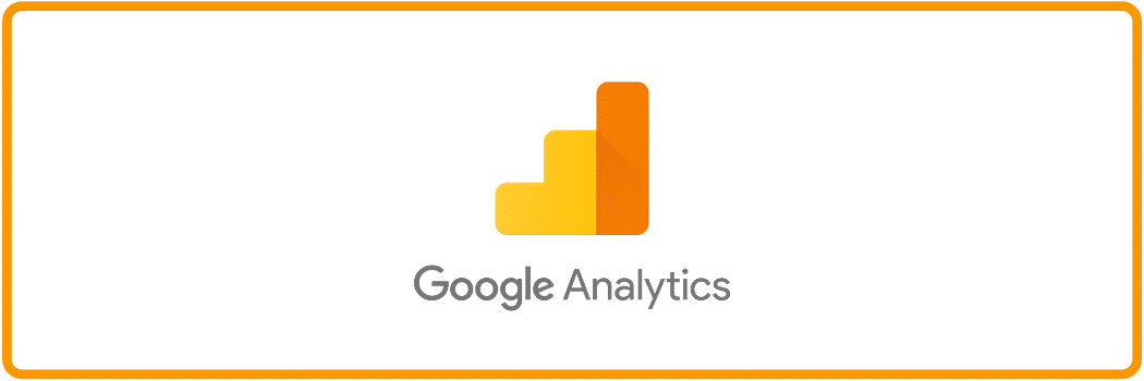 Google analytics logo with an orange border