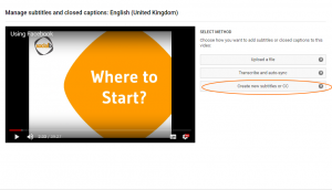 YouTube - Click on transcriptions