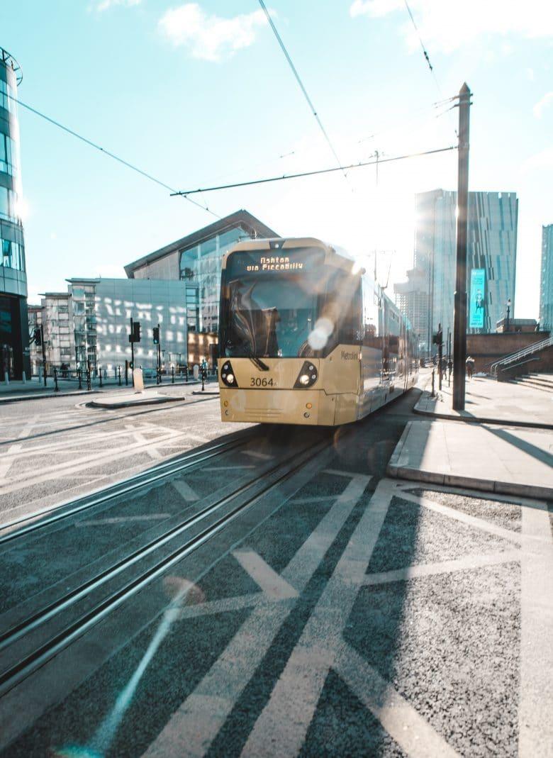 A tram in manchester