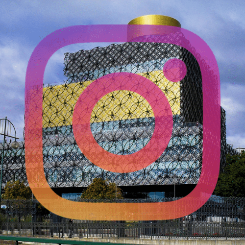 Birmingham Library and instagram logo