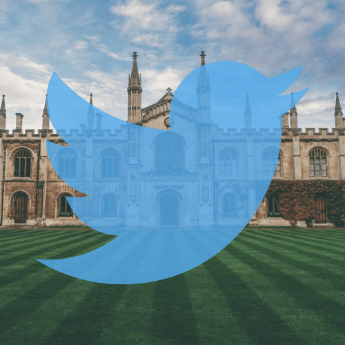 Cambridge university and twitter logo