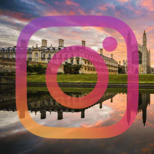 Cambridge university and instagram logo
