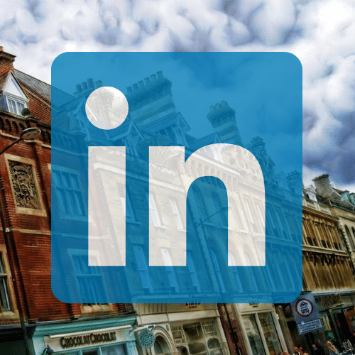 Cambridge street and linkedin logo