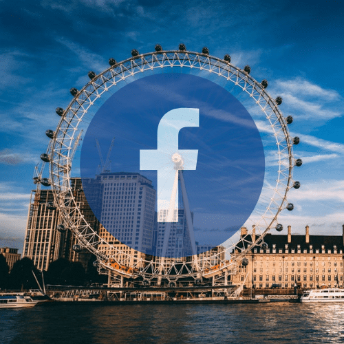 London eye and facebook logo