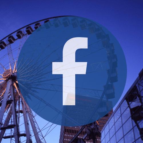Manchester wheel and facebook logo