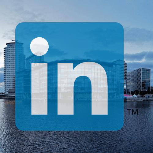 Media city and linkedin logo