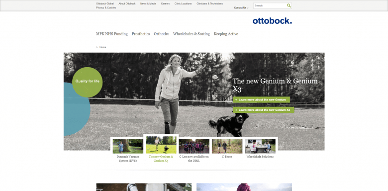 Ottobock Website