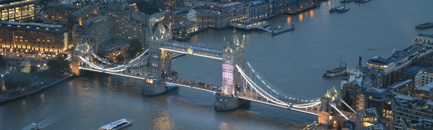 Tower bridge aerial view