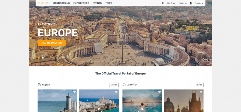 Visit Europe Website