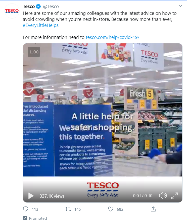 Tesco Pormoted Tweet