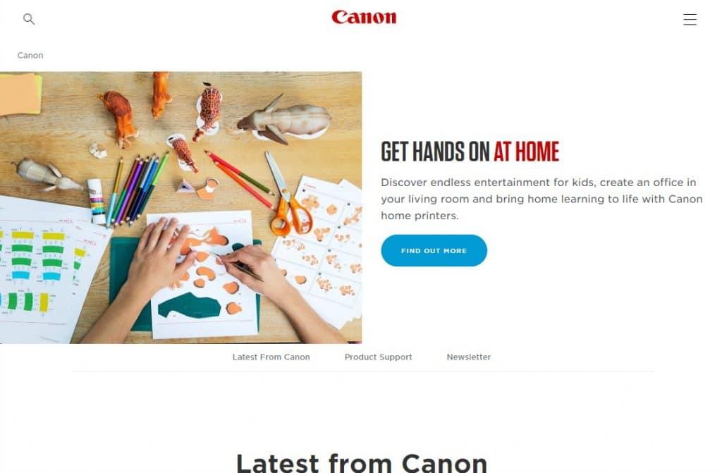 Canon website
